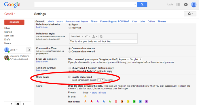 Image result for undo send option in gmail
