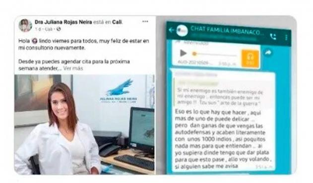 Juliana Andrea Rojas, medica retirada de Clínica Imbanaco | La FM