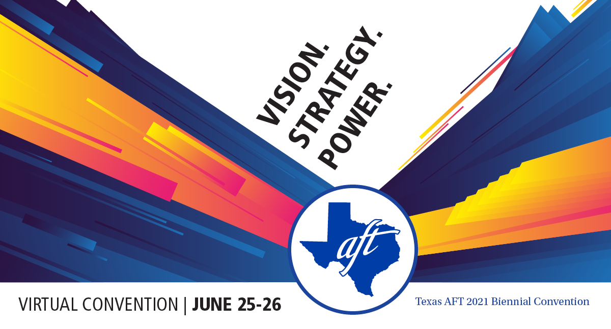 """Text says """"Vision. Power. Strategy. Virtual Convention 