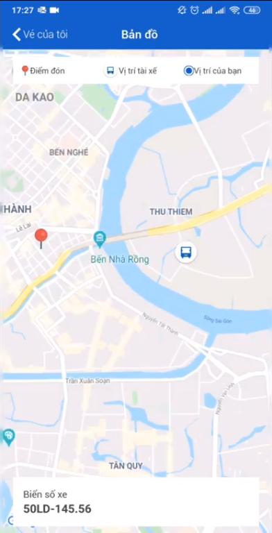 Cách xem GPS xe khách trên ứng dụng VeXeRe
