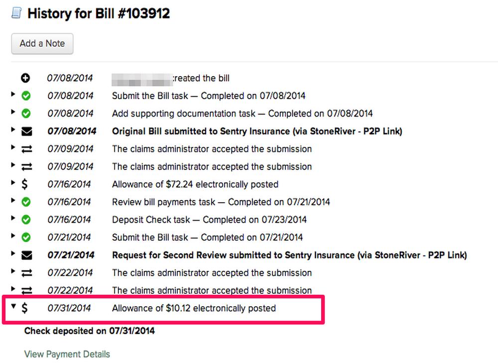 bill history