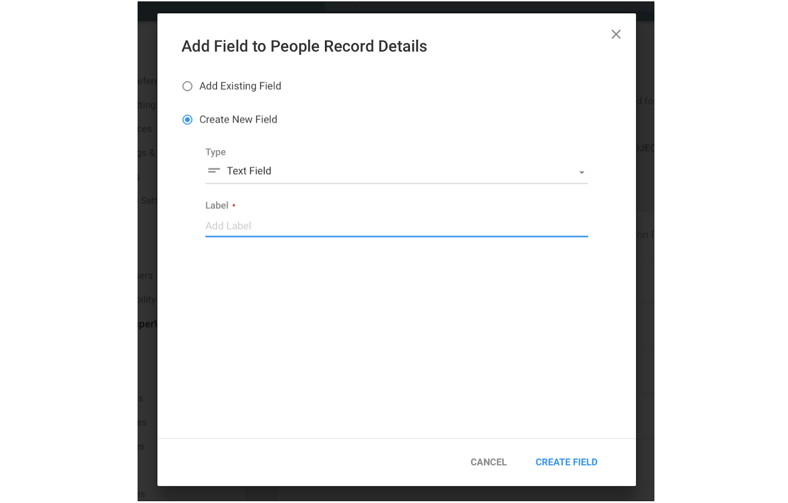 Copper CRM lets you add custom fields to each person's record