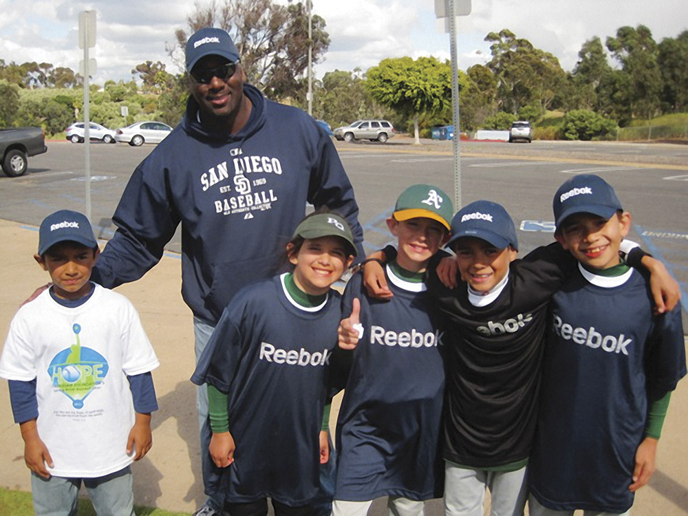 Willie Briscoe with kids for Hope Leadership Foundation Camps and Academy