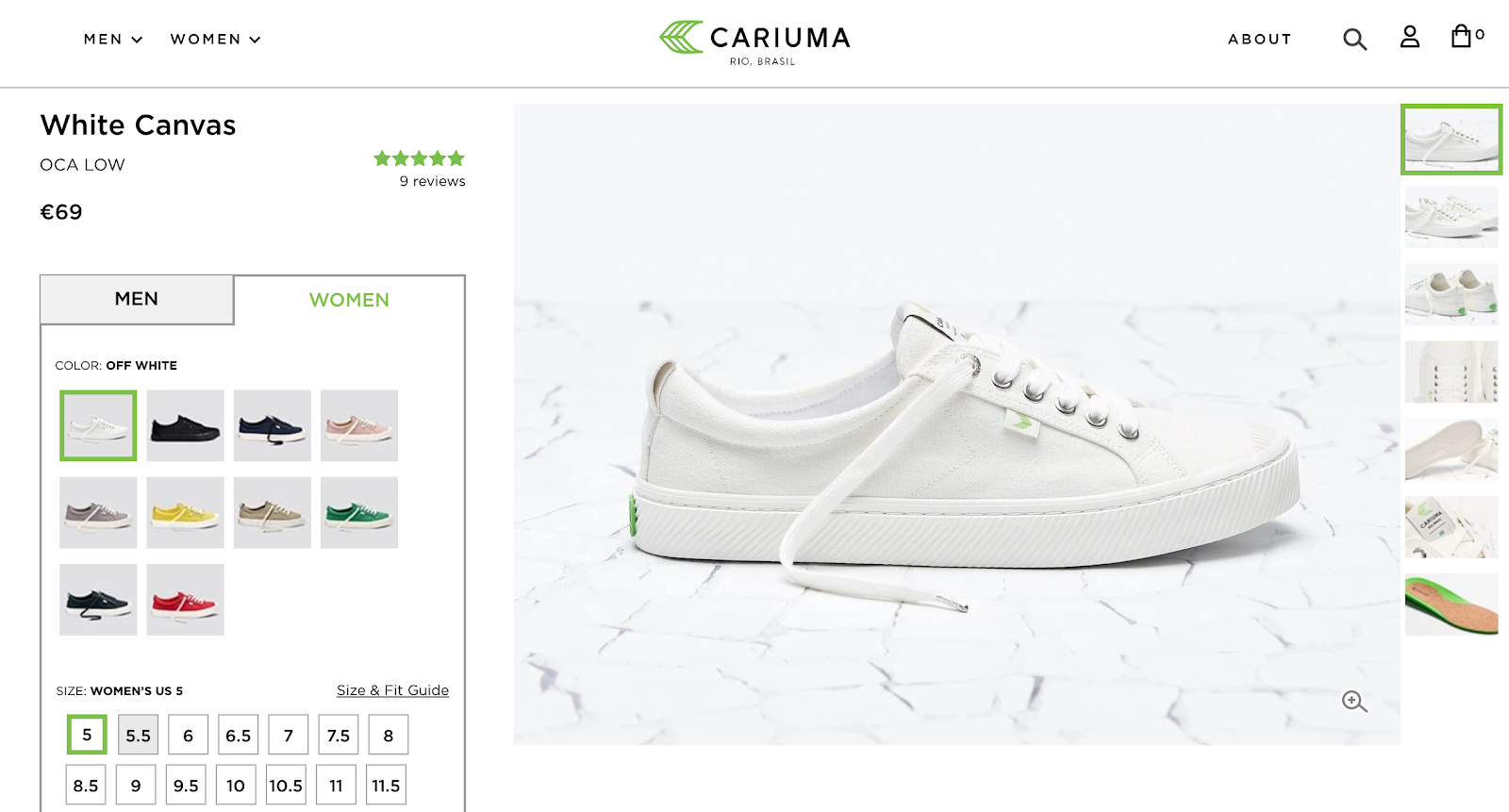 best product detail page examples cariuma