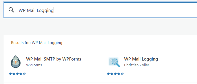 Install WP Mail Logging plugin