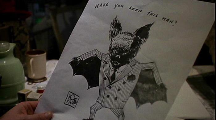 Tim Burton's Batman Bob Kane sketch.