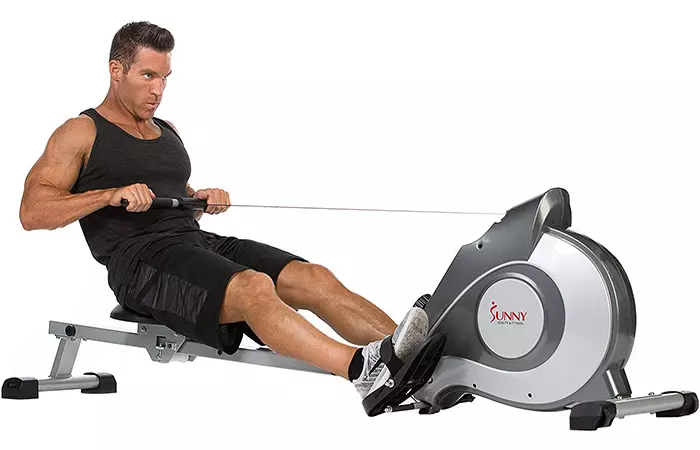 SUNNY HEALTH AND FITNESS SF –RW5515 MAGNETIC ROWING MACHINE - best rowing machine for apartments
