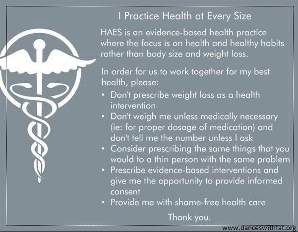 weight stigma HAES pledge