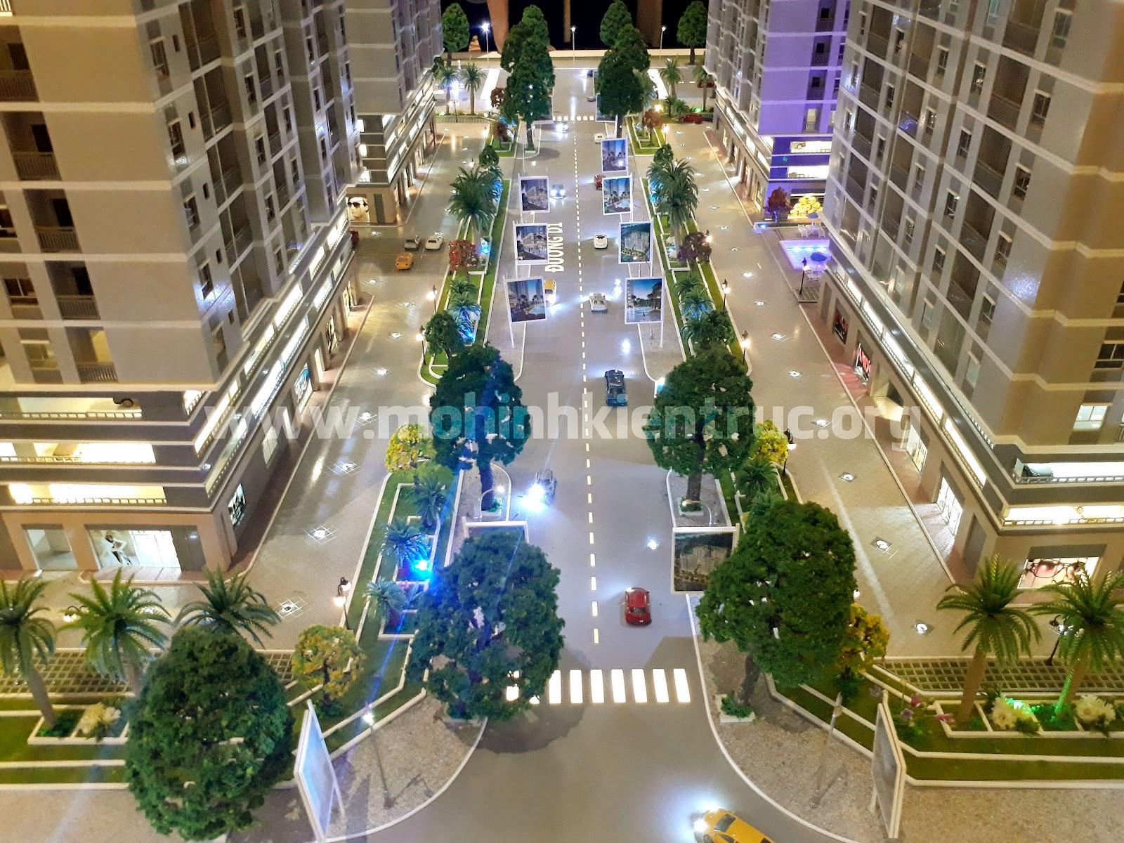 Mô hình kiến trúc căn hộ Orchid Park Nhà Bè