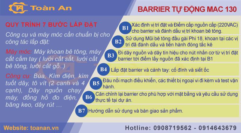hướng dẫn lắp đặt barrier mac 130