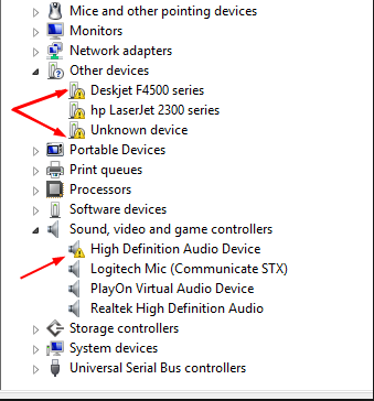 Manually Update Faulty Device Drivers