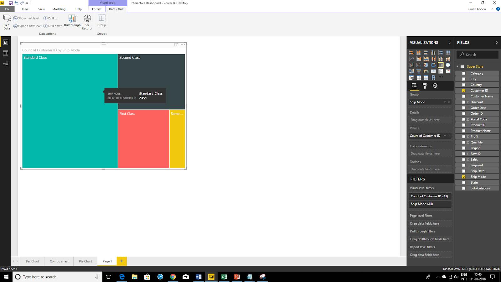 Interactive Dashboard In Microsoft Power BI 44