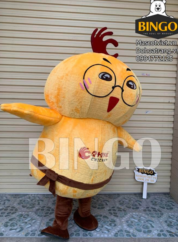 Mascot gà Otoke xin chào