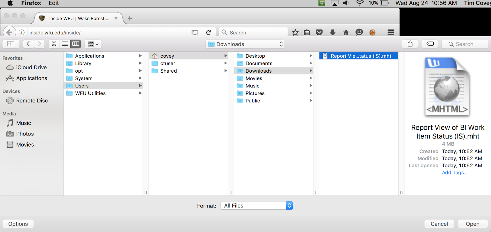 Open mht files on a MAC - Information Systems Knowledge Base