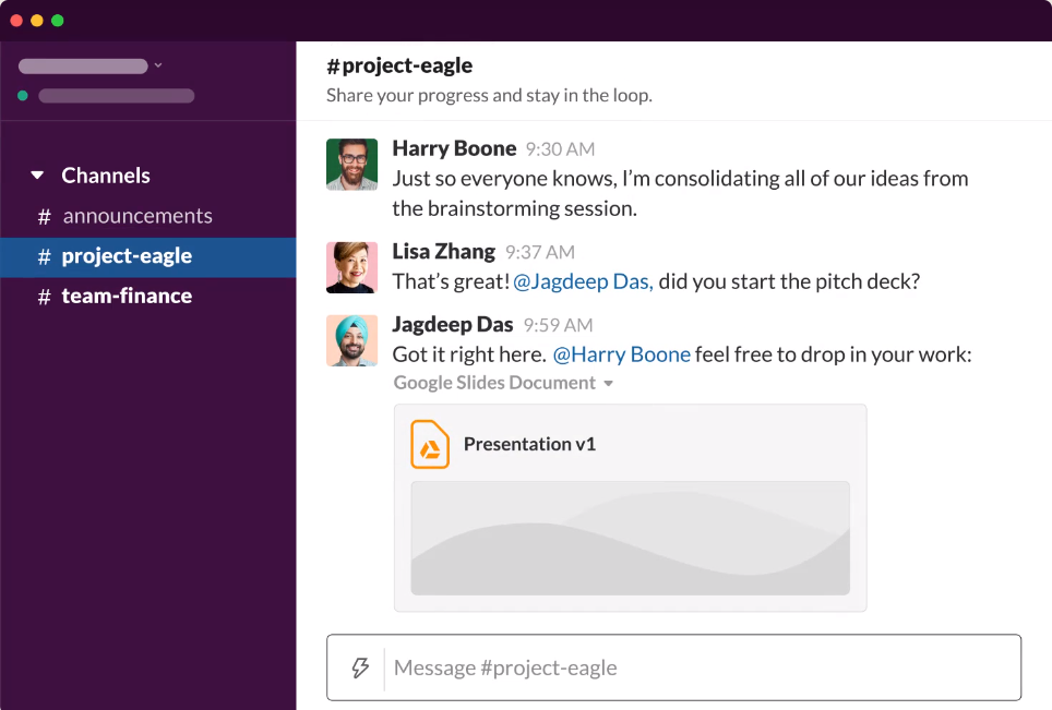 Slack is one of the top project manager tools for digital communication.
