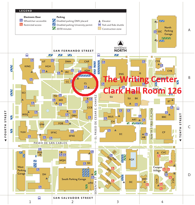 san jose state university map campus Faqs Writing Center San Jose State University san jose state university map campus