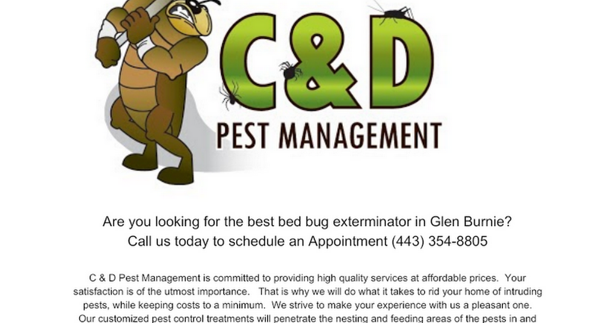 Thumbnail for Bed Bug Exterminator Glen Burnie MD (443) 354-8805