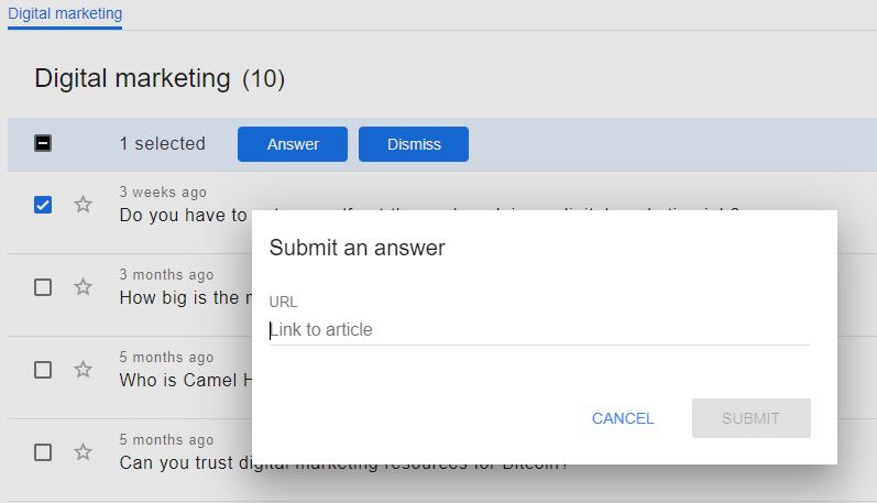 Google Question Hub Answer Submission