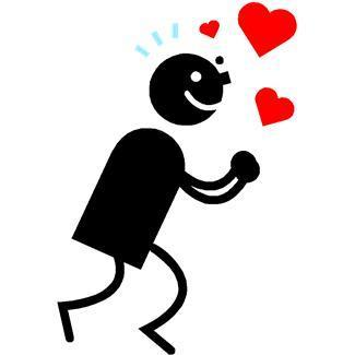 hearts,in love,kneeling,clasped hands,people,emotions,cartoons