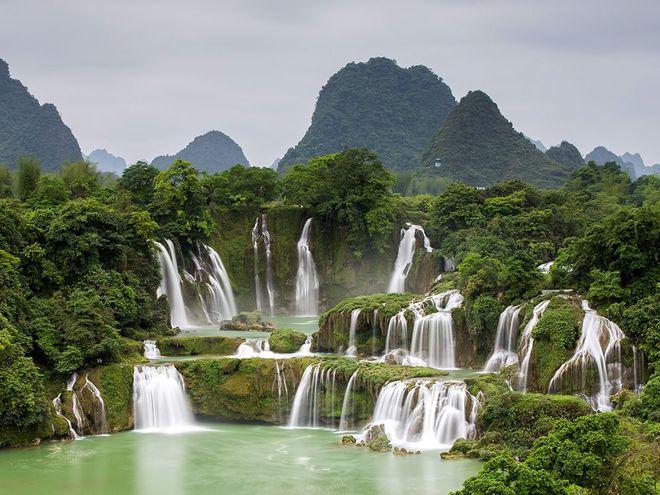 Thác Bản Giốc ở Cao Bằng của Việt Nam
