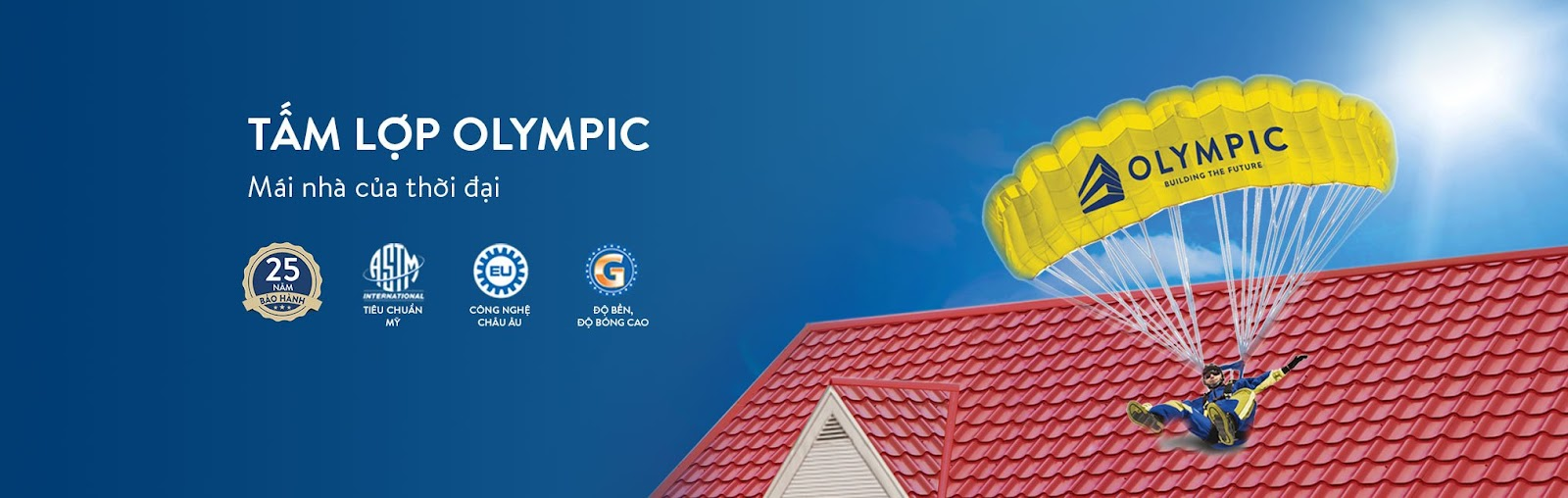 Tấm lợp Olympic - mái nhà của mọi thời đại