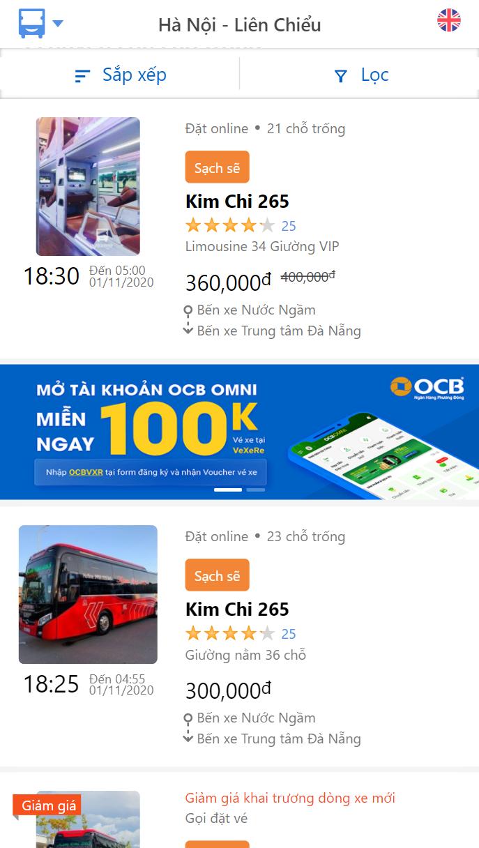 Giờ xuất bến nhà xe Kim Chi 265