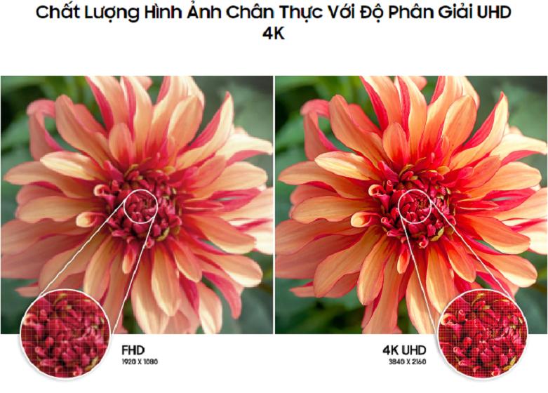 Smart Tivi Samsung 4K UHD 43 Inch UA43AU7000KXXV   Chất lượng hình ản chân thực