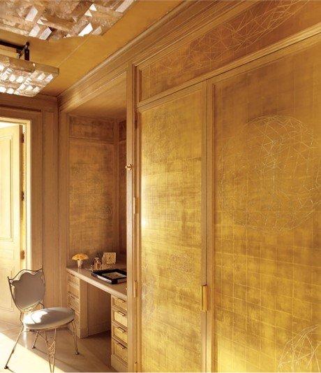 Sơn hiệu ứng Waldo - Dát vàng lá - Màu vàng của căn phòng làm nao động lòng người