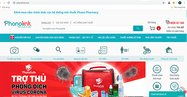 Nhà thuốc online Phanolink.com
