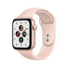 Apple Watch SE (GPS, 44mm) - Gold Aluminium Case with Pink Sand Sport Band  : Amazon.in