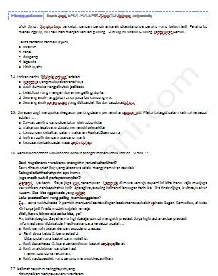Contoh Soal Essay Bahasa Indonesia Kelas 8