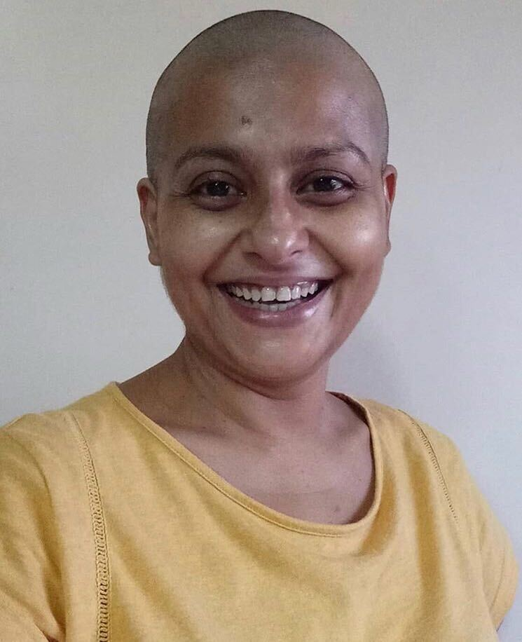 jaya bhattacharya shaved her head