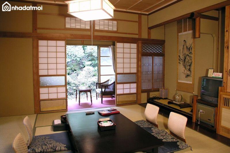 Tối giản nội thất sử dụng trong phòng khách kiểu Nhật