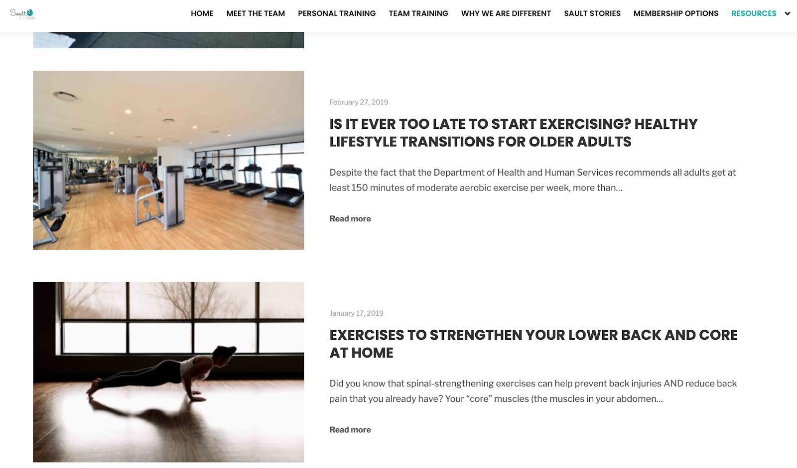 Sault Fitness blog