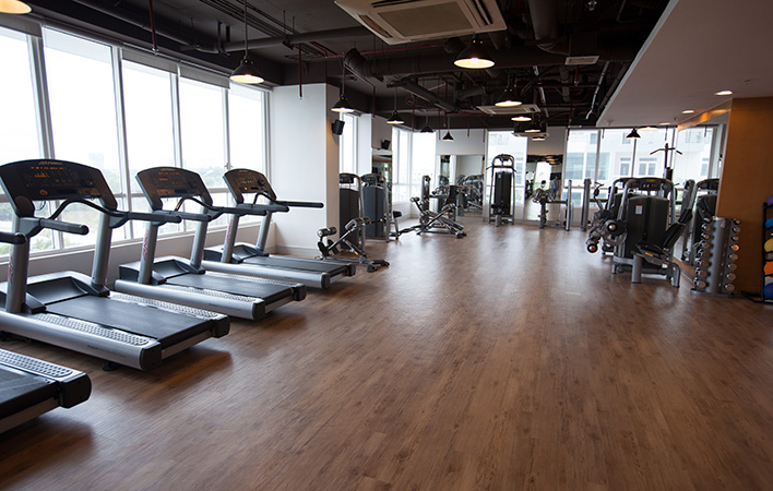 Well-equipped Gymnasium for Lexington apartment residents