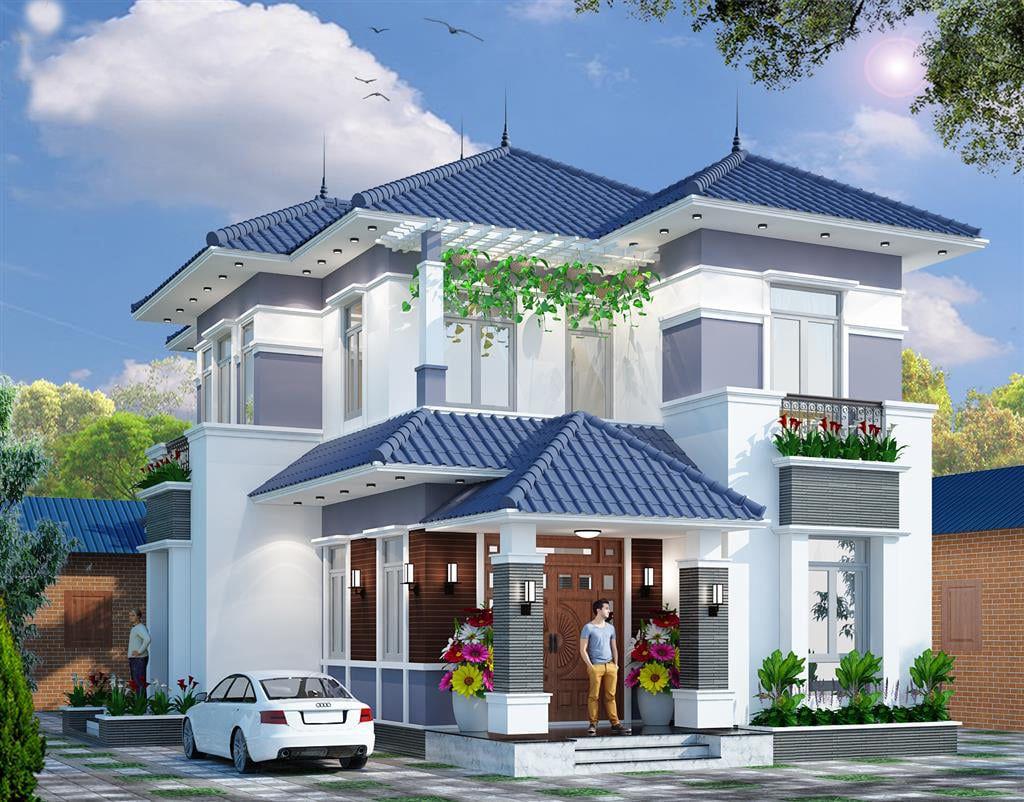 Viền mái tôn được chọn màu sơn hòa hợp với ngôi nhà