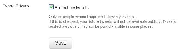 Privacidade no Twitter