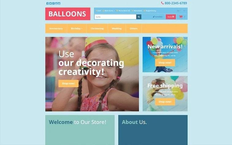 лучший бесплатный шаблон темы ботстрапа веб-сайт детская игровая комната воздушные шары представляет детский сад