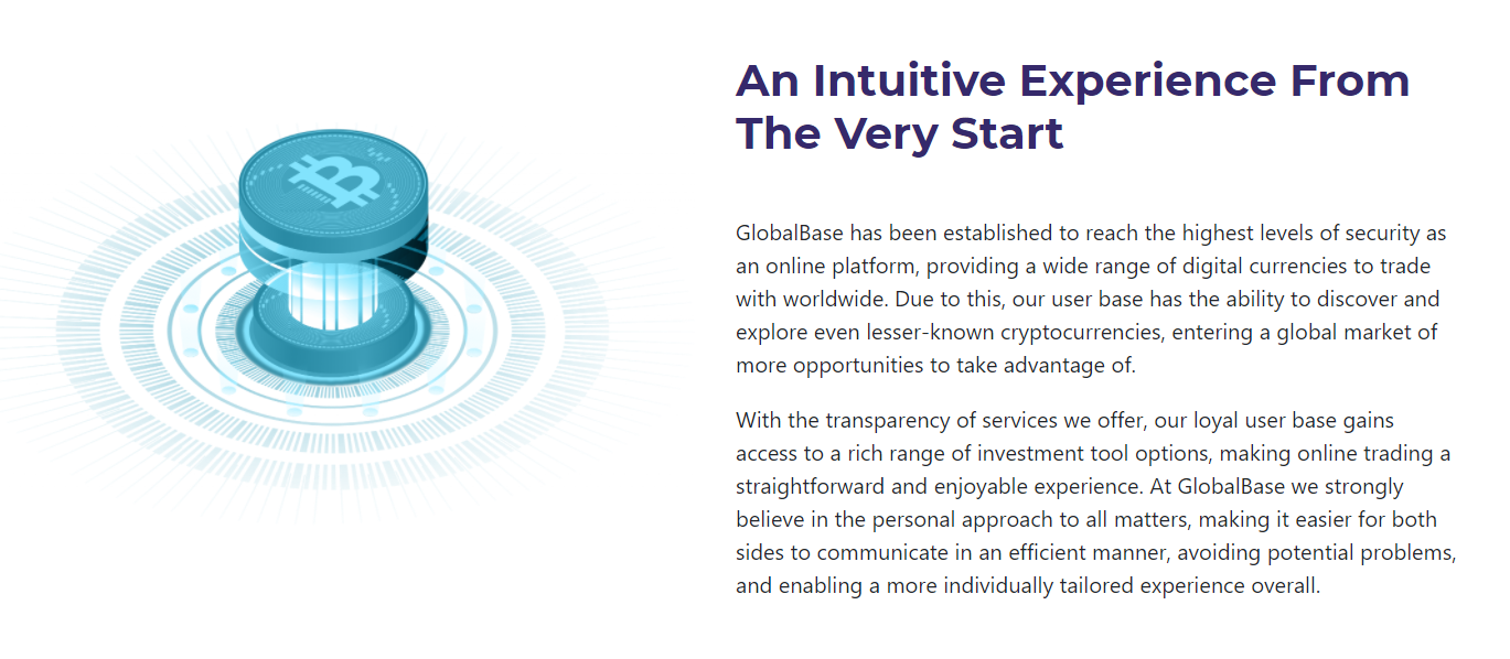 GlobalBase intuitive trading experience