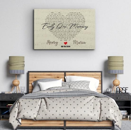 A Large Canvas Is A Good Item For The Master Bedroom Wall Decor
