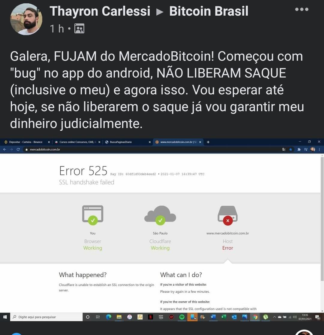 Usuário no Bitcoin Brasil