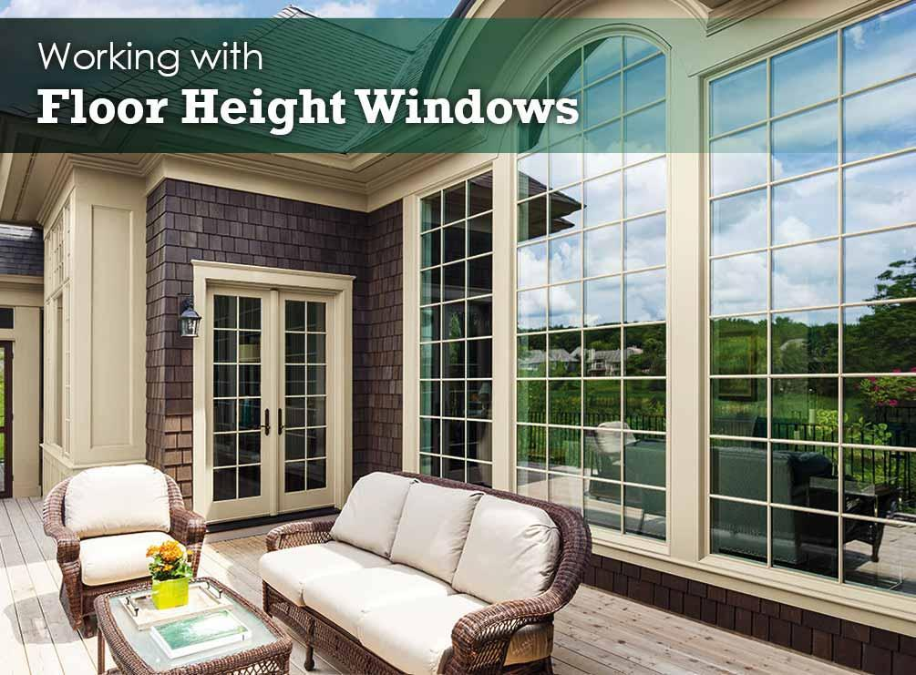 Working with floor height windows for Window height