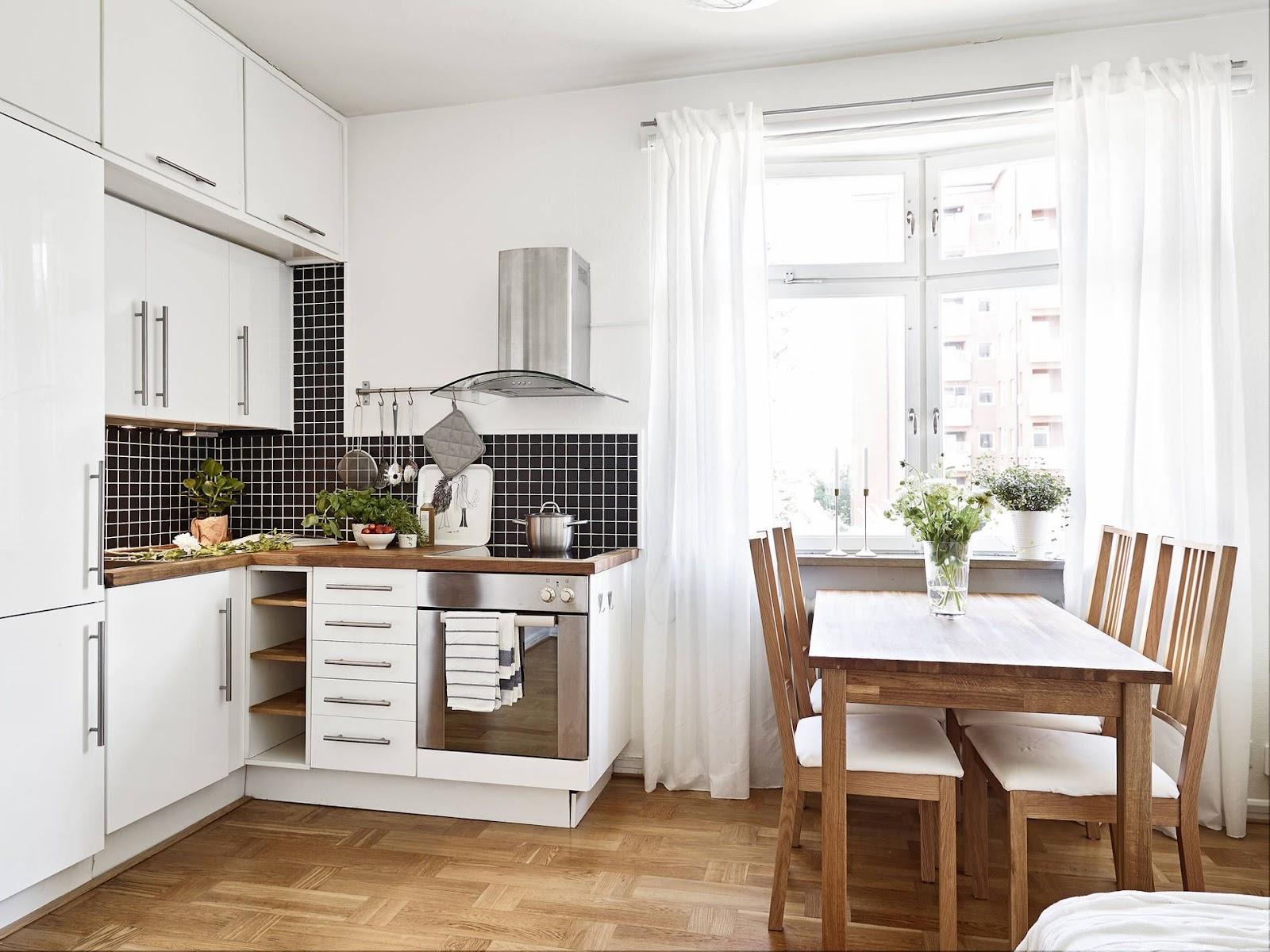 Inspirasi dapur dengan skema warna putih - source: thespruce.com