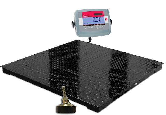 Cân sàn điện tử gồm cảm biến lực, đầu cân, màn hình hiển thị LCD…