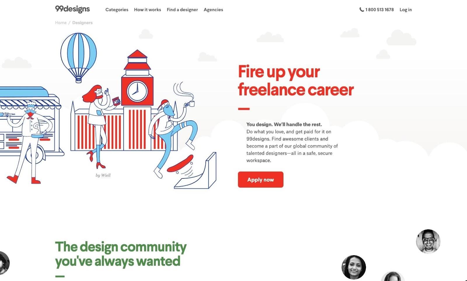 99designs for freelancers