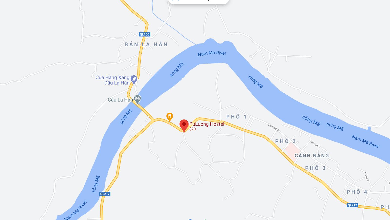 Địa điểm đón/trả khách tại Pù Luông - Pù Luông Hostel