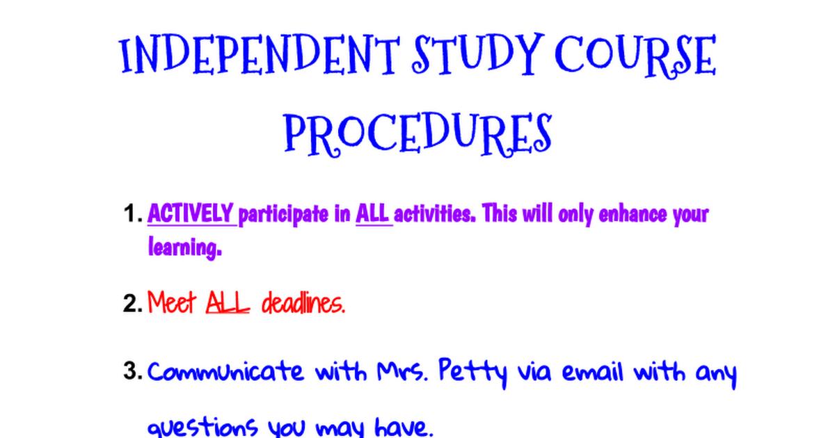 independant study