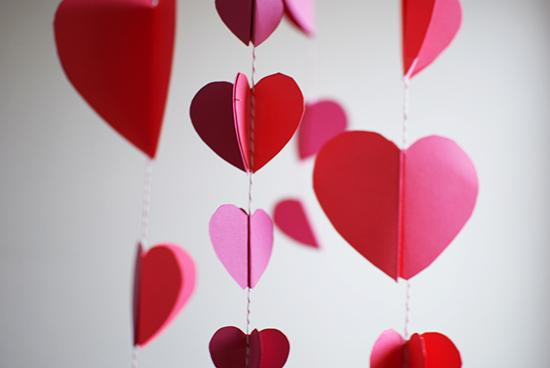 DIY paper heart chandelier | Valentine's Day decor | Inspired to Share