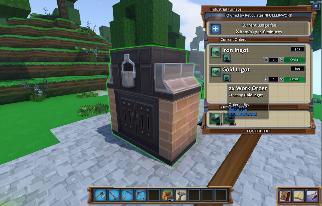 Eco stone houses crafting alpha design account system strange crafting is almost finished with the owner of the crafting table able to charge users who use it malvernweather Image collections