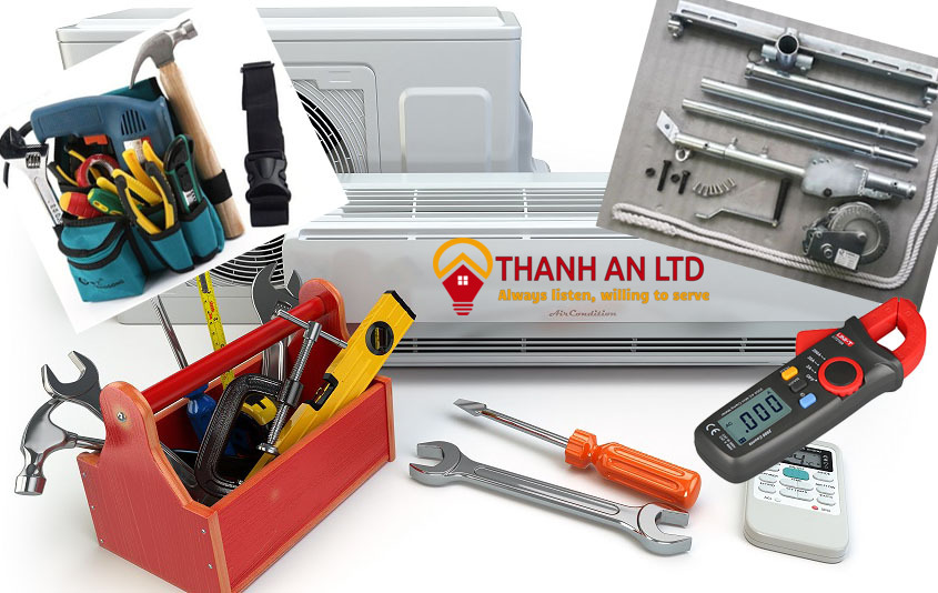 Lắp đặt máy lạnh và các công cụ cần chuẩn bị